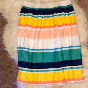 Colorful pleated skirt. Brand new no tag